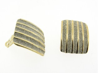 Gouden Italiaanse Vintage oorclip