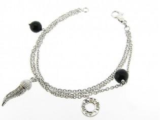 Zilveren armband met charms, Liu Jo Zilveren 3-rij jasseron mode armband