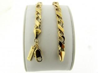 Gouden armband met gourmet schakel
