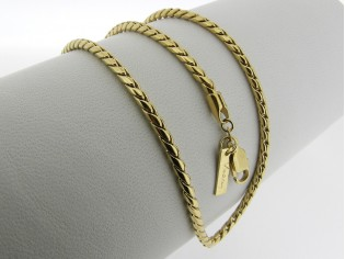 Gouden halsketting slangen cocktail ketting