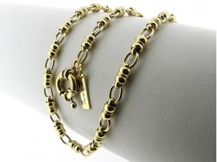 Gouden halsketting mode schakel ketting met grote veersluiting