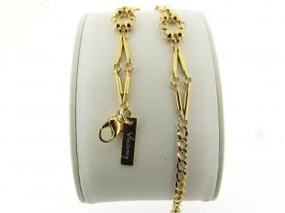 Gouden armbandje met romantisch modieus kleine balletjes schakeltjes