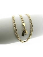 Gouden halsketting met fantasie koning schakel ketting