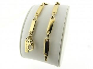 Gouden armbandje met sportieve plaat schakeltjes