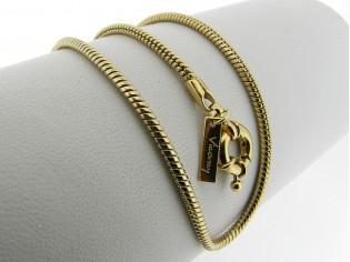 Gouden halsketting ronde cobra slangen collier met modische sluiting