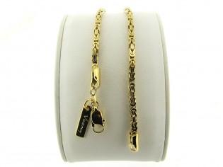 Gouden armbandje met konings schakel