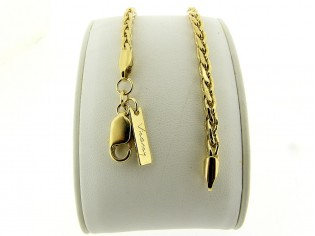 Gouden armbandje met dunne cocktail schakeltjes