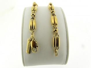Gouden armband met fantasie schakel
