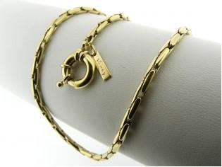 Gouden halsketting modieuse Palona cocktail collier met grote sluiting
