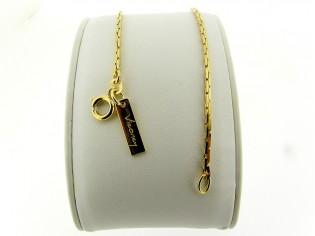 Gouden armbandje met mini slangen diamant geslepen schakeltjes