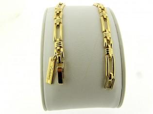 Gouden armbandje met fantasie schakeltjes