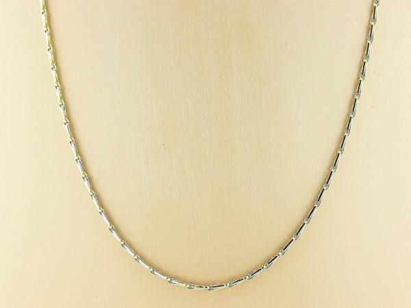 Gouden halsketting mini close for ever koren schakel collier