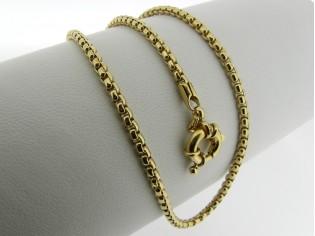 Gouden halsketting venetiaanse schakel collier met charmante veersluiting