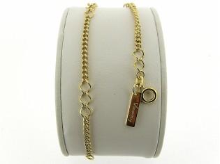 Gouden armband met fantasie gourmet schakeltjes
