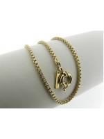 Gouden halsketting met fantasie venetiaanse schakel