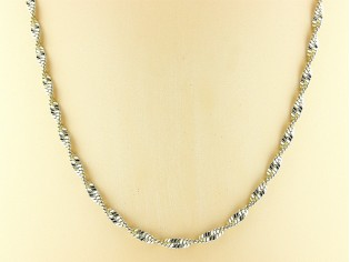 Gouden halsketting Singapore collier gediamanteerd