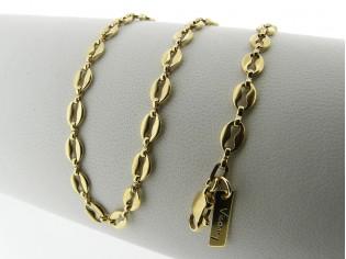 Gouden halsketting met fantasie koffieboon schakel ketting