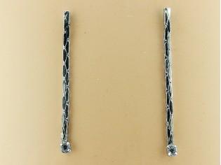 Lange oorhanger met cobra ketting en strass kristallen