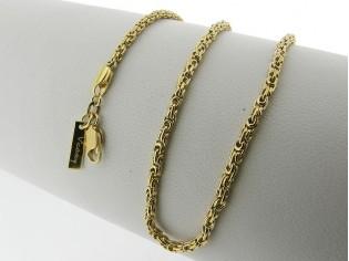 Gouden halsketting koning schakel collier open gewerkt model