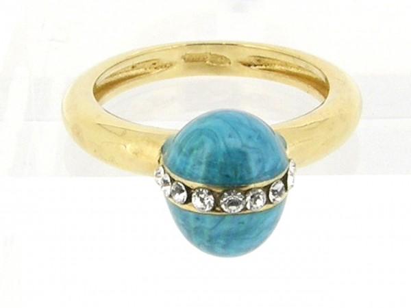 Zilveren Clamori ring 18 karaat goud verguld