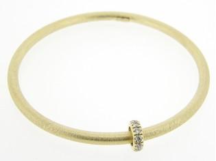 Zilveren rinkel armband met Swarovski rondel