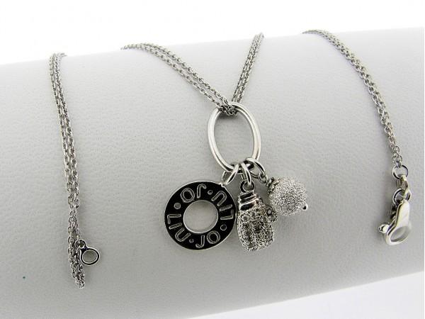 Zilveren ketting 2-rijig Liu Jo jasseron collier met charms