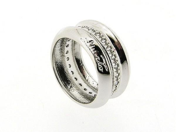 Zilveren ring, trendy Liu Jo ring met zirconia steentjes