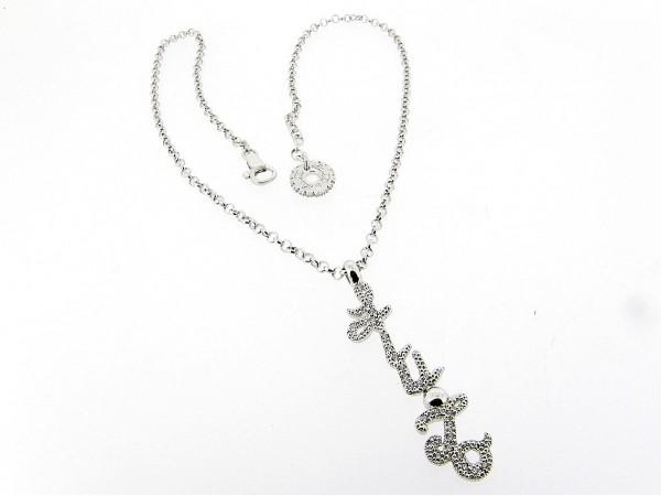 Liu Jo zilveren close for ever collier met trendy hanger