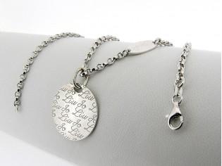 Liu Jo zilveren close for ever collier met hangertje