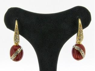 Zilveren Clamori oorsteker 18 karaat goud verguld