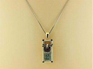 Gouden venetiaans ketting met hangertje