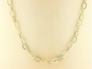 Gouden halsketting High Fashion ovalen ringen collier