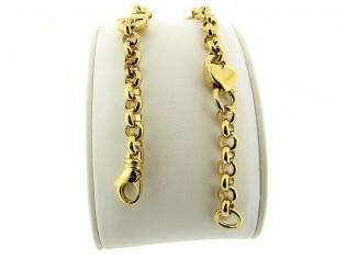 Gouden armband met Jasseron ringen en slotjes
