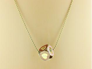 Gouden balletjes ketting met hangertje