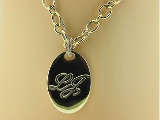 Gouden halsketting Liu Jo collier met hanger en gouden toplaag