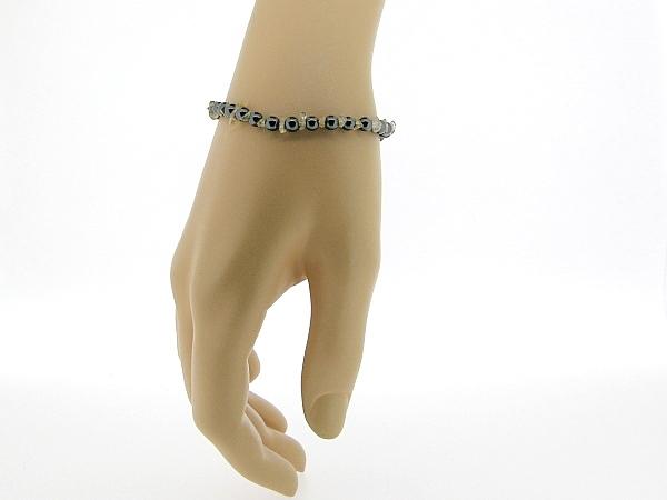 Hematiet armbandje met edelsteentjes, gecombineerd met Citrien split steentjes