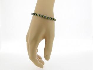Hematiet armbandje met edelsteentjes gecombineerd met Swarovski kristallen