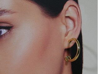 Gouden zigeuner open creool oorhanger