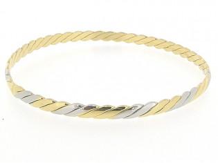 Gouden bicolor rinkelarmband
