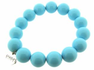 Rekarmband met trendy Ocean blauw gekleurde stenen Powerbead