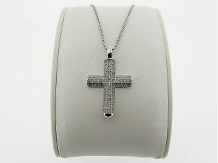 Zilveren Even Milano collier met zilveren kruisje