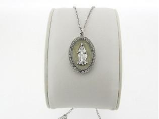 Zilveren Even Milano collier met Madonna medaillon