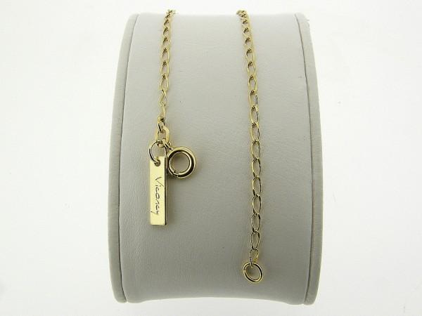 Gouden armbandje met kleine gediamanteerde close for ever schakeltjes