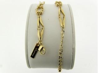 Gouden armbandje met romantisch schakeltjes en kleine balletjes