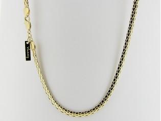 Gouden halsketting dun gevlochten cobra slangen collier