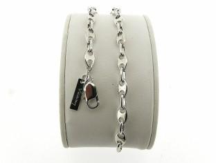 Zilveren armband met hoogglanzende anker schakeltjes