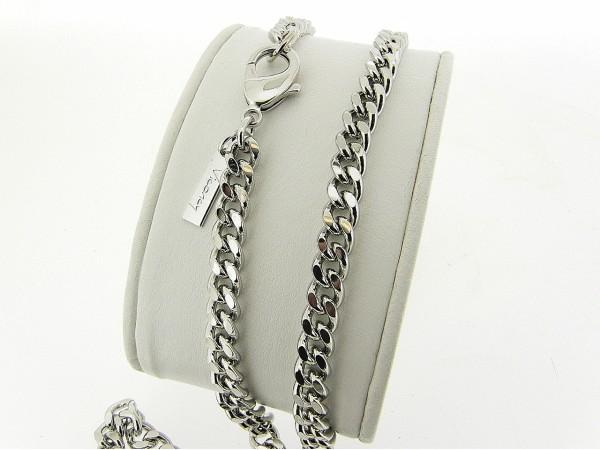 Zilveren halsketting met gourmet schakels