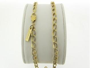 Gouden halsketting met close for ever schakeltjes