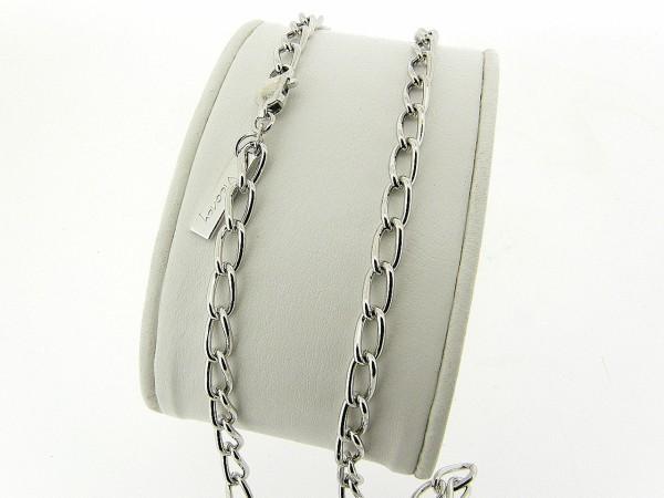 Zilveren halsketting met close for ever schakeltjes
