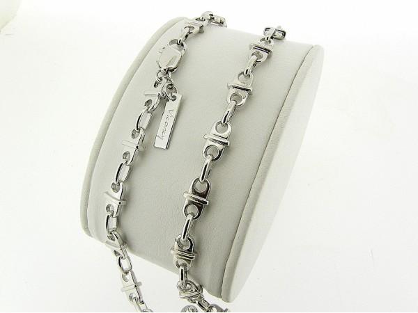 Zilveren Franse schakel halsketting